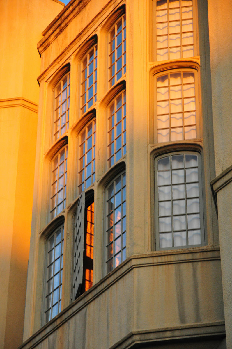 Stephens Hall sunlit window