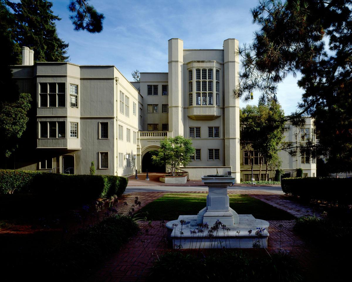 Stephens Hall and sundial
